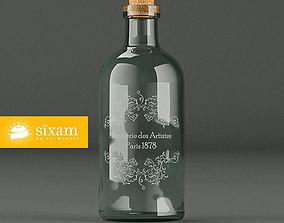 3D Vintage Bottle