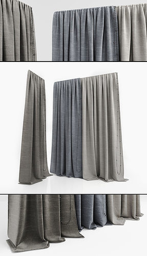 curtains 3d model max obj mtl 1