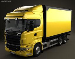 scania r 730 box truck 2010 3d