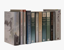 Book Set 001 3D model realtime