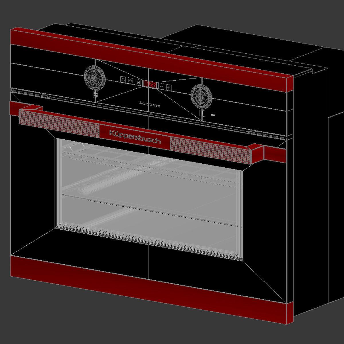 kuppersbusch eeb 6260 jxr compact oven 3d model max. Black Bedroom Furniture Sets. Home Design Ideas