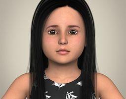 Realistic Little Girl 3D Model