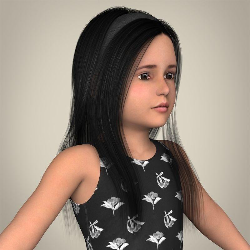 Realistic Little Girl 3D Model .max .obj .3ds .fbx .c4d ...