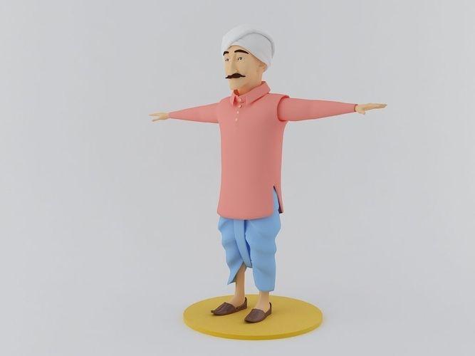 Indian Farmer 3D Model3D model