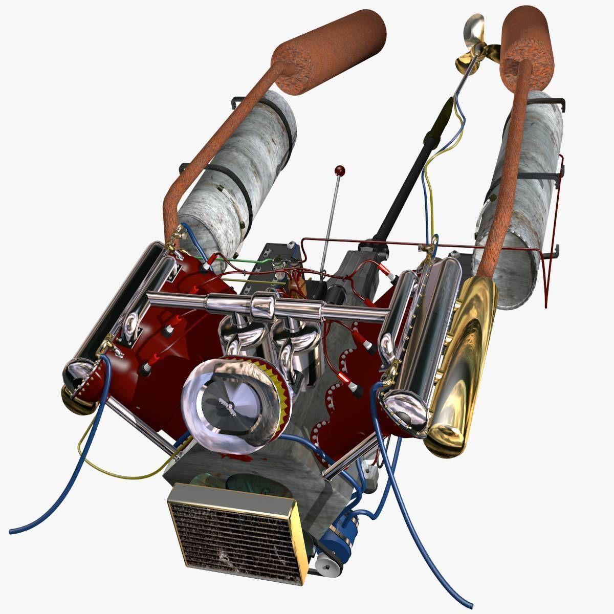 V-8 Marine Engine