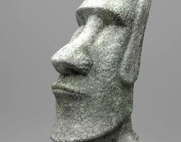 Easter Island Moai Statue 3D Model