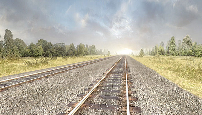 railway tracks pack 3d model low-poly fbx ma mb 1
