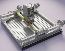 cnc router homebuild 3d animated