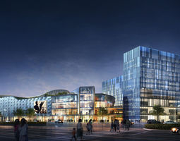 City Shopping Mall 3D office-building