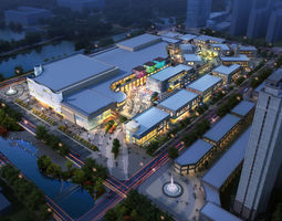 city shopping mall 066 3d