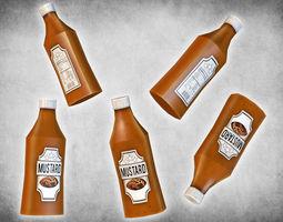 Mustard Bottle 3D asset