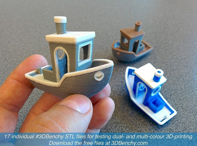 3dbenchy - the jolly 3d printing torture-test 3d model stl 9