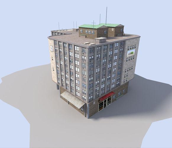 commercial city building3D model