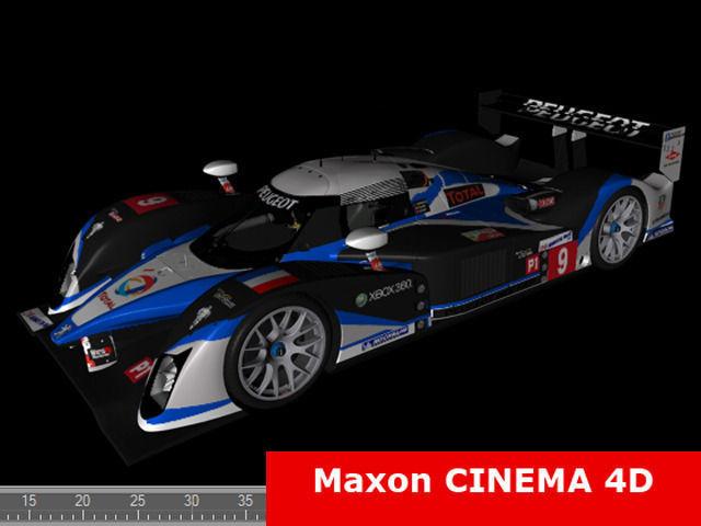 ... Peugeot Sport 908 2009 3d Model Max C4d Ma Mb 5 ...