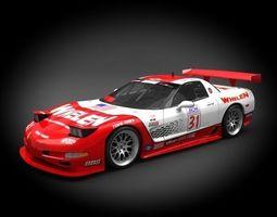 3d model chevrolet corvette racing z06 2006