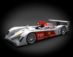 Audi R10 TDI 2007 3D Model