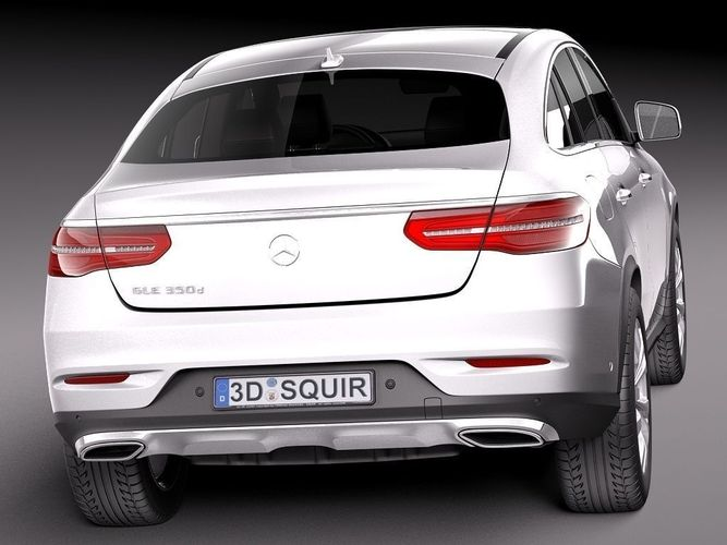 Mercedes benz gle coupe 2016 3d model max obj 3ds fbx for New mercedes benz models