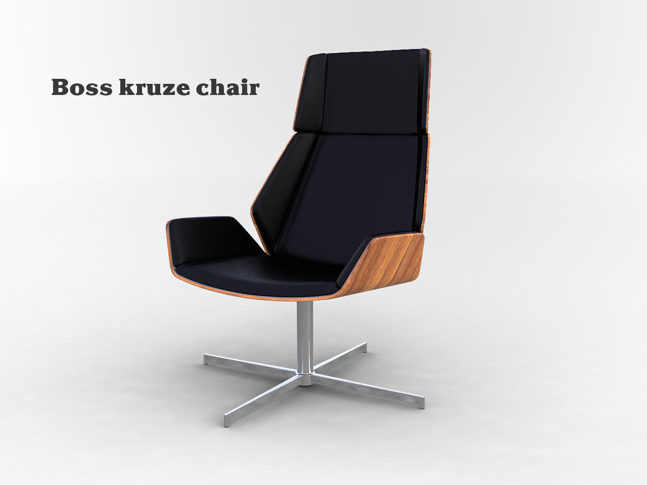 ... boss kruze chair 3d model max obj 2 ... : kruze chair - Cheerinfomania.Com