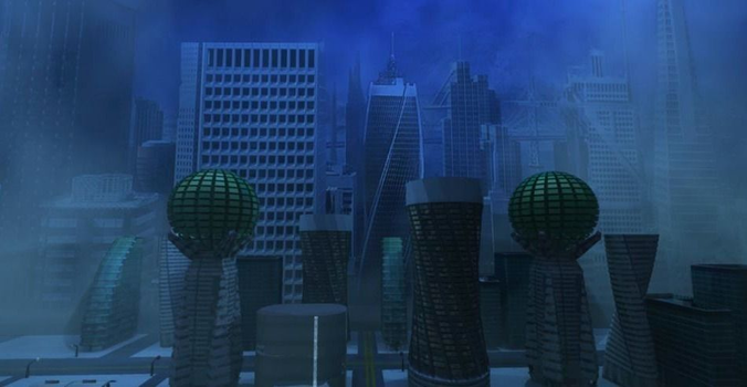 Futuristic Downtown Anchorage Alaska from ...3D model