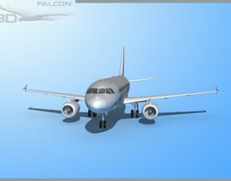 rigged falcon3d a319 fbmetal