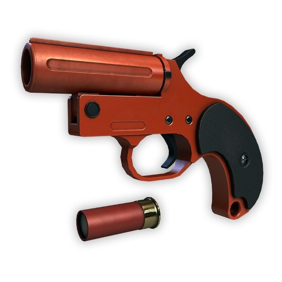Flare Gun 3d Model Game Ready Max Obj Fbx Cgtrader Com