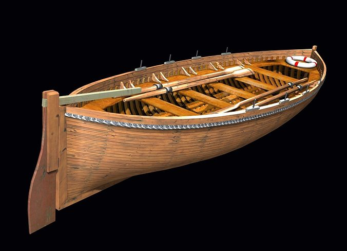Life Boat Xix Century 3d Asset Cgtrader