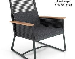 Kettal Landscape Club Armchair 3D Model