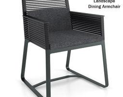 Kettal Landscape Dining Armchair 3D Model