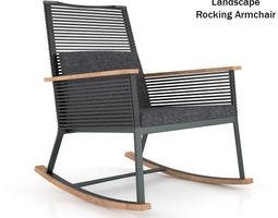 Kettal Landscape Rocking Armchair 3D Model