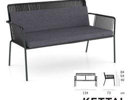 Kettal Net Sofa Outdoor Interior 3D Model