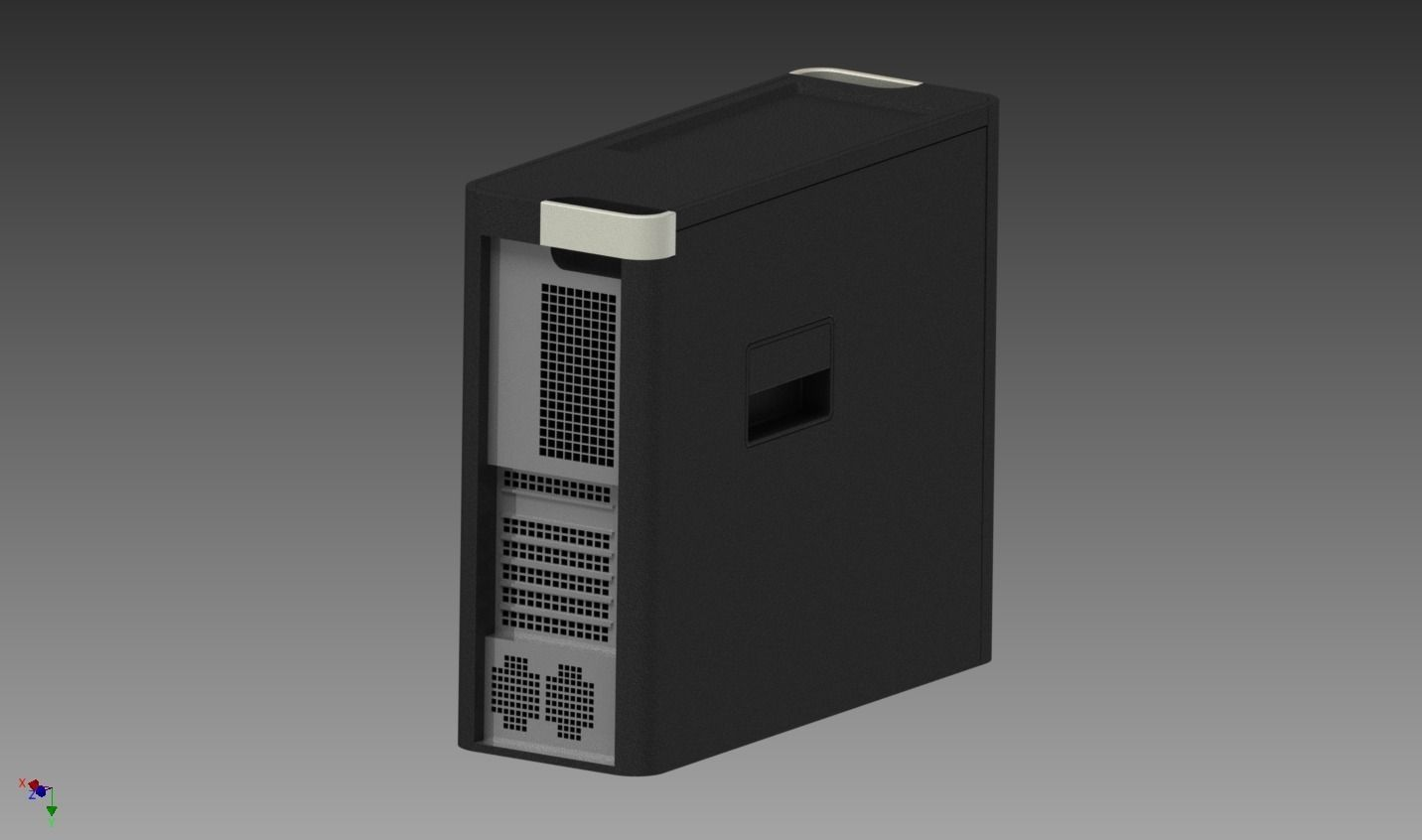 Computer Tower Free 3d Model  Iam