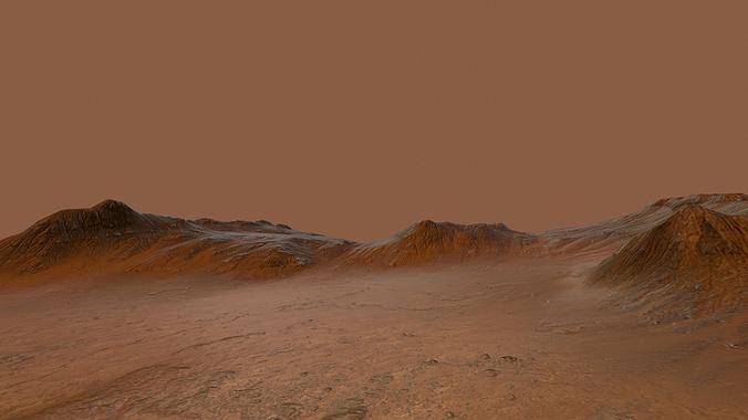 mars environment 3d model low-poly obj mtl tga 1