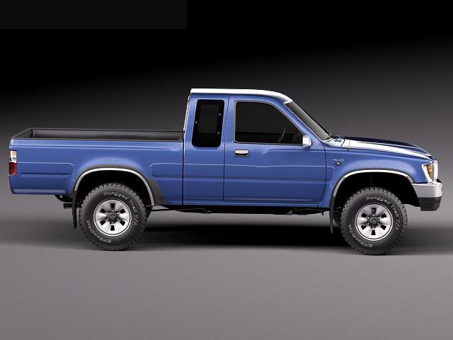 toyota hilux pickup extended cab 1989 1997 3d model rfa. Black Bedroom Furniture Sets. Home Design Ideas