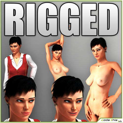 Natalie Nude or Clothed Rigged3D model
