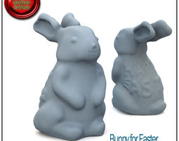Bunny for Easter STL Printable 3D Model
