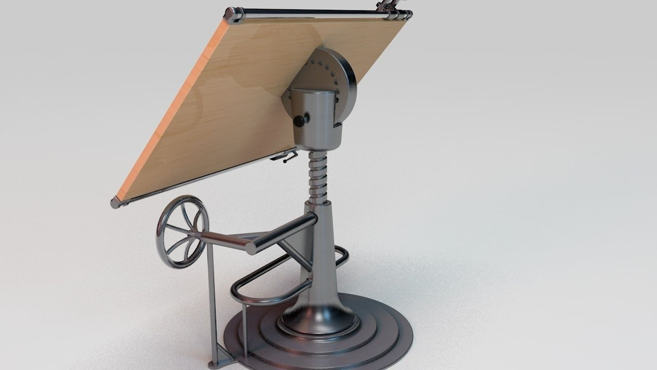 ... Drafting Table 3d Model 3ds C4d 2