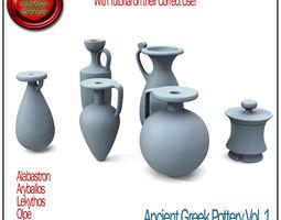 Ancient Greek Pottery Vol 1 STL Printable 3D Model