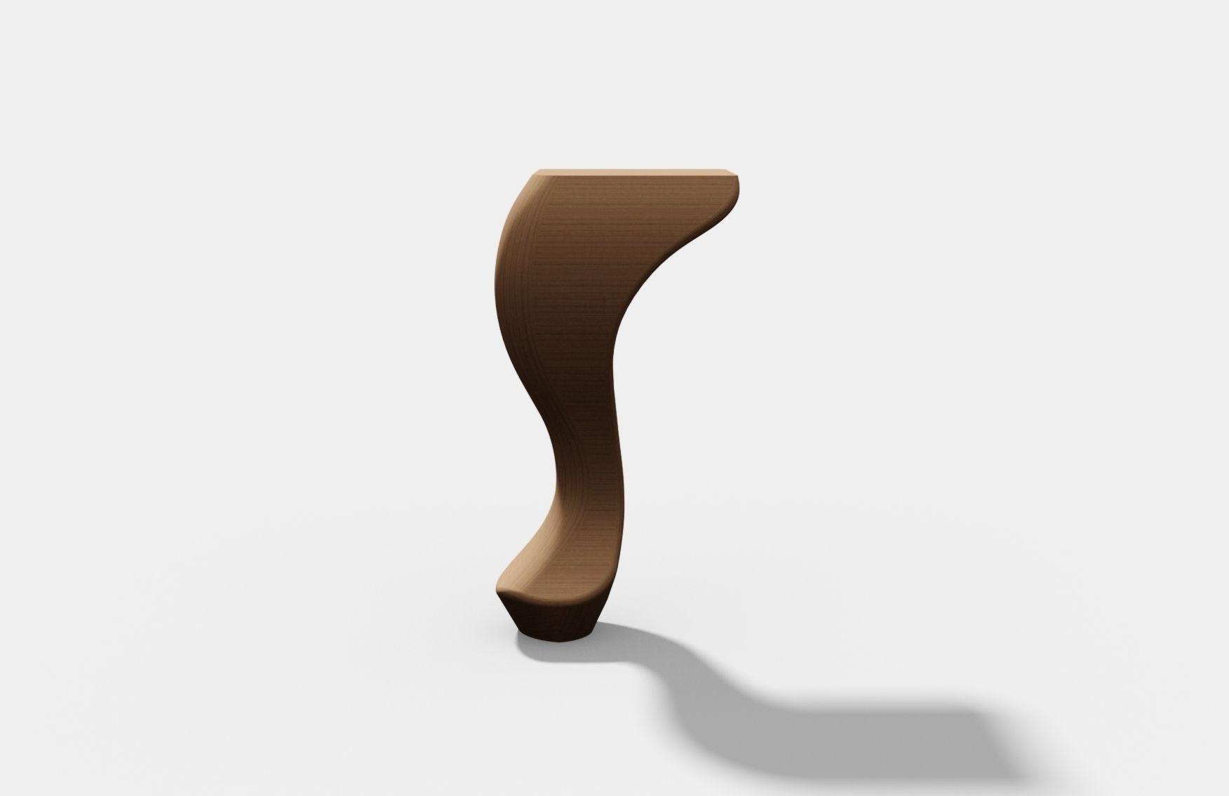 Classic Furniture Leg Cad 3d Model Max Obj 3ds Fbx