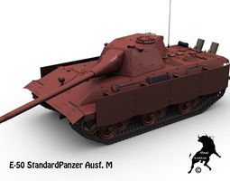 E-50 StandardPanzer Ausf M 3D Model