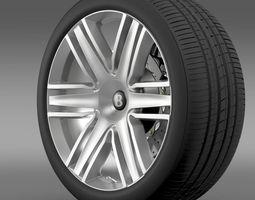 Bentley Continental GTC 2015 wheel 3D Model