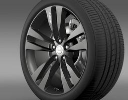 Chrysler 300 SRT8 Satin Vapor wheel 3D Model