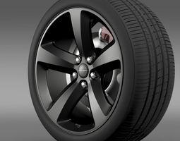 Chrysler 300S wheel 3D Model