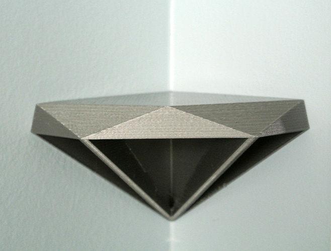 diamond corner shelf 3d model stl 1