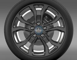 Mercedes Benz C 220 wheel 3D Model