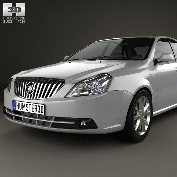 2013 Buicks: Buick Excelle 2013 3D Model MAX OBJ 3DS FBX C4D LWO LW LWS