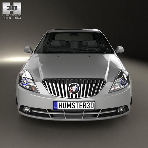 2013 Buicks: Buick Excelle 2013 3D Model .max .obj .3ds .fbx .c4d .lwo