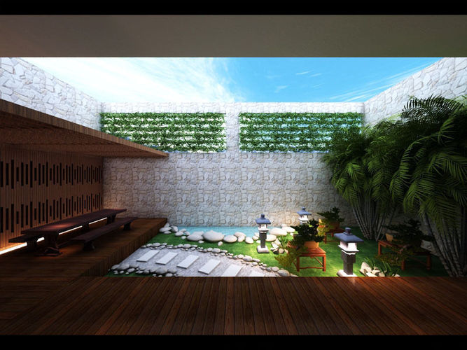 Zen Garden Design 3d Model Max