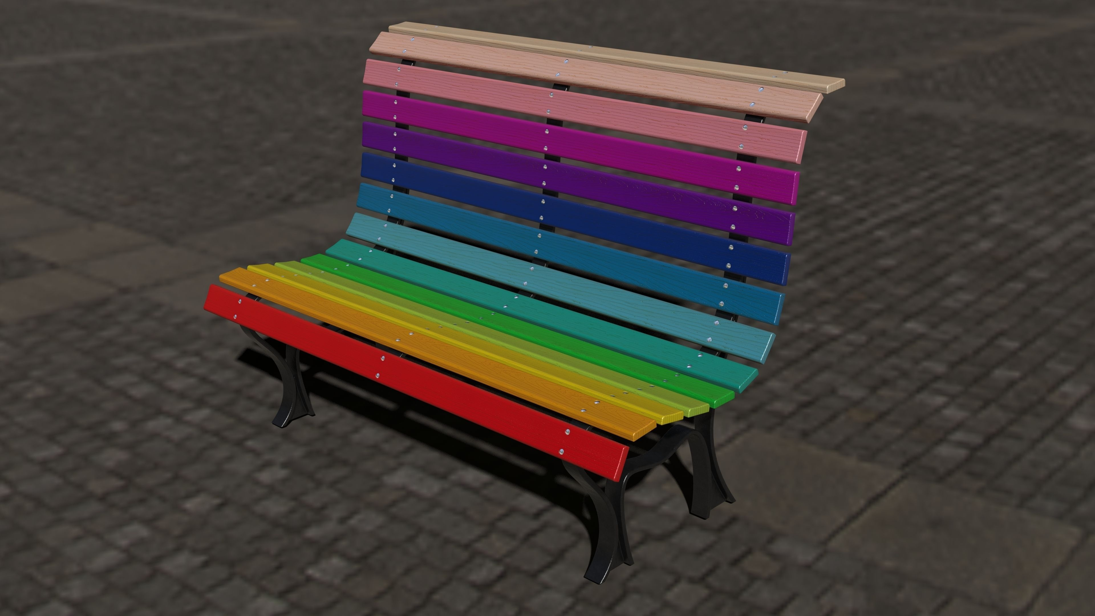 urban furniture free 3D Model