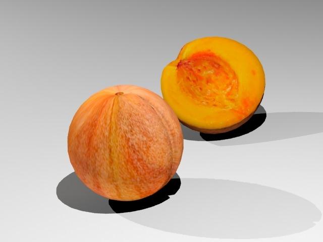 Peach 3D Model .max .3ds - CGTrader.com