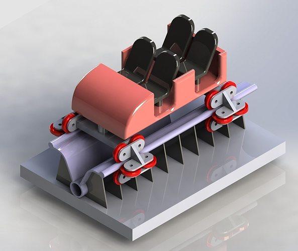 3d model roller coastor car cgtrader for 3d kuchenplaner roller